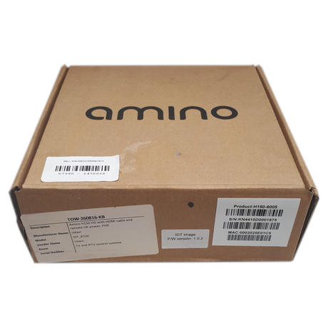 AMINO H150 Remote Control Full HD HDMI PoE Set Top IPTV Box HDMI Cable Not Inclu Thumbnail 3