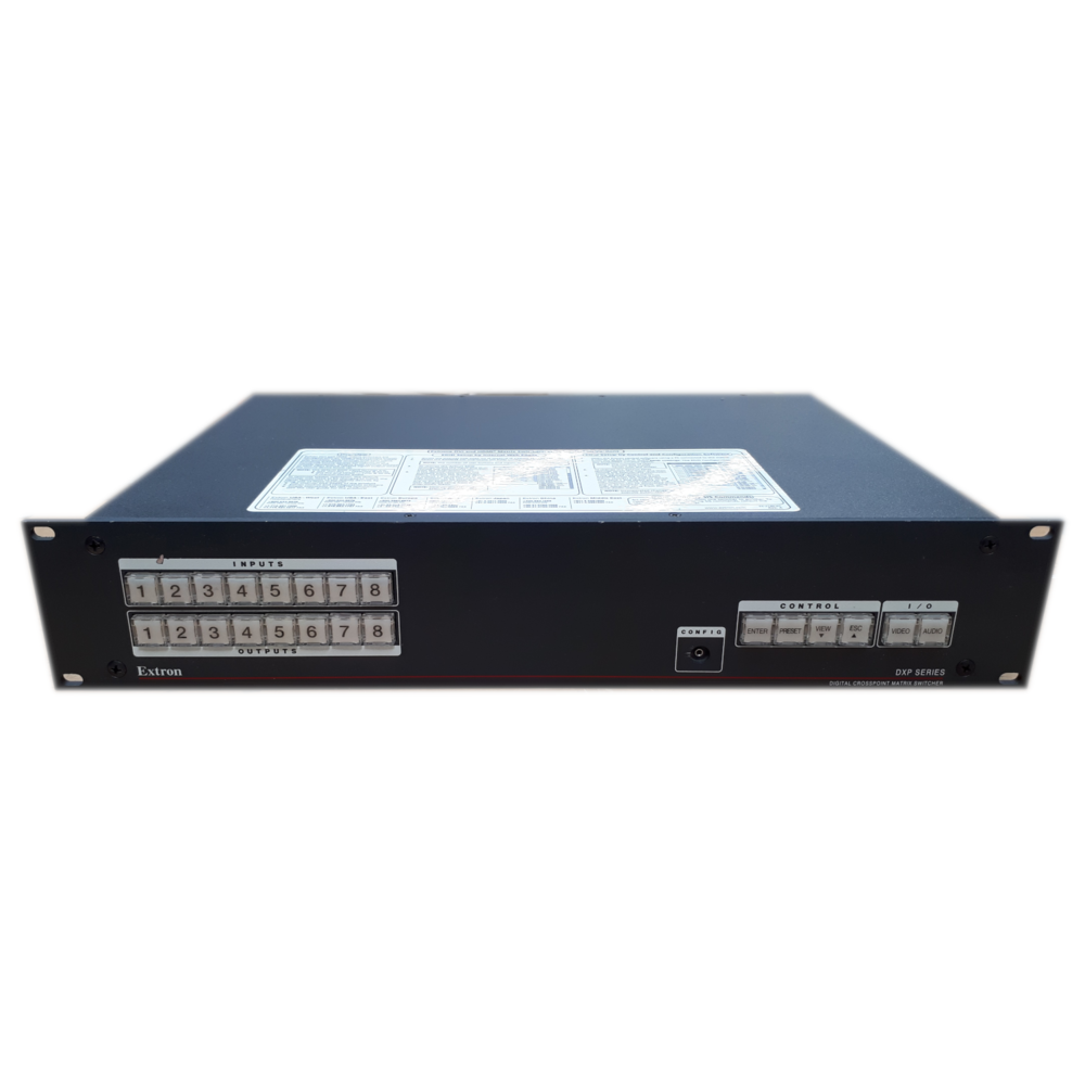 Extron DXP 44 DVI 4X4 DVI Pro W/Key Minder Video Matrix Switcher