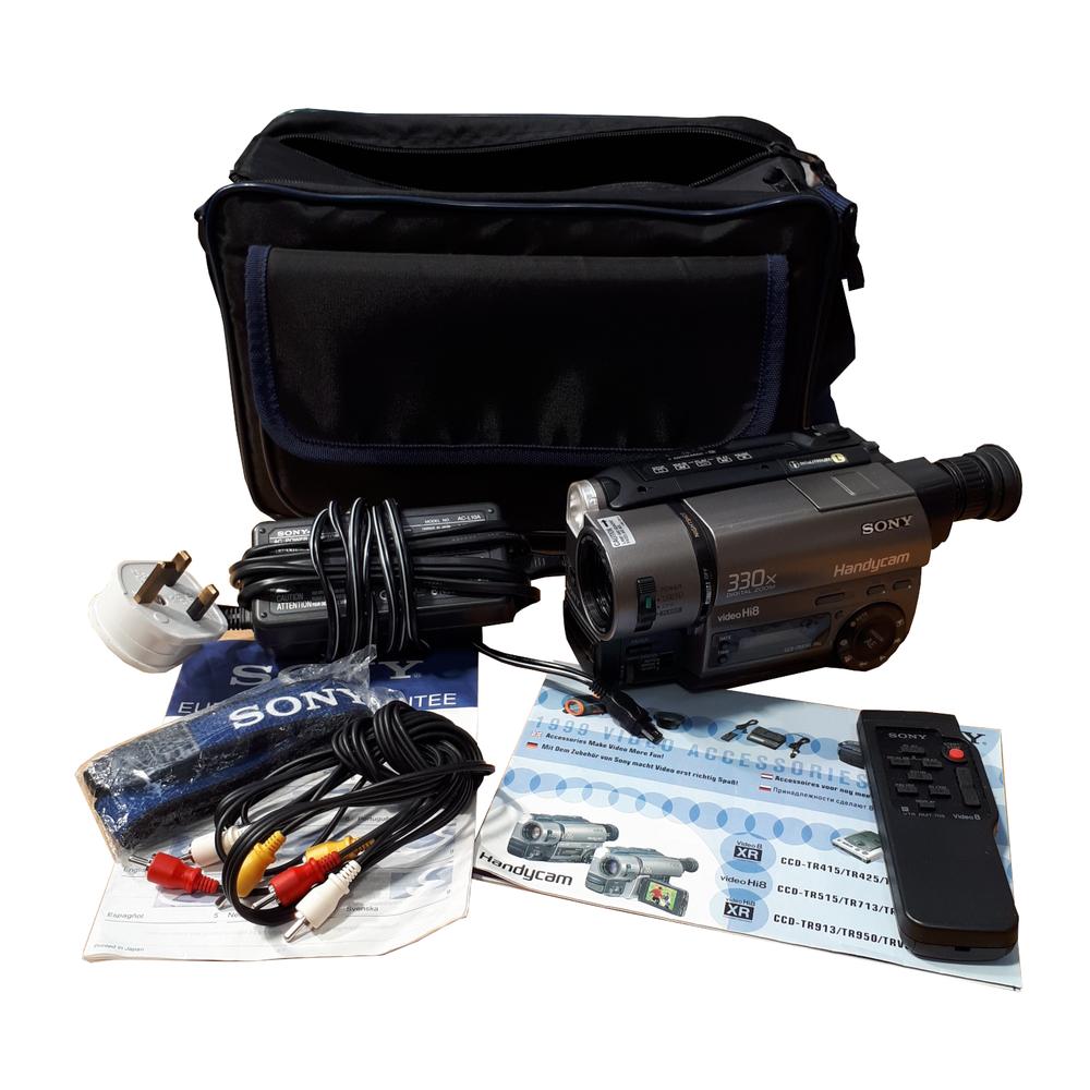 Sony CCD-TR515E Hi8 Video8 330x Zoom Camcorder Video Handycam Camera Plus Extras