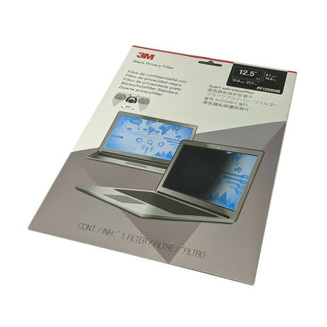 """3M Black Privacy Filter PF125W9B for 12.5"""" inch 16:9 Widescreen Laptops Thumbnail 1"""