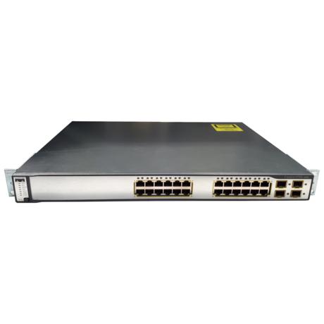 Cisco WS-C3750G-24TS-E1U 24 Port 1U Managed Switch With Ears