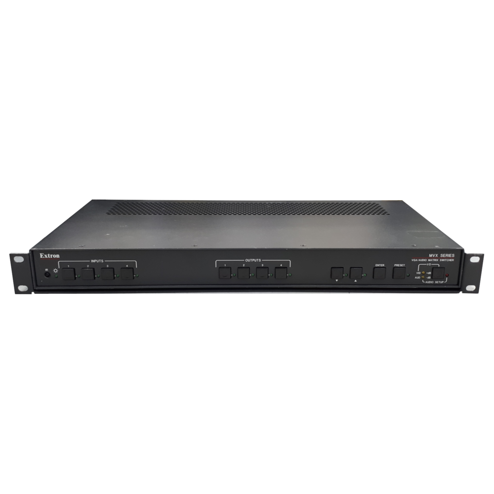 Extron MVX 44 VGA A 4x4 VGA Audio Matrix Switcher And Rack Mount Tray