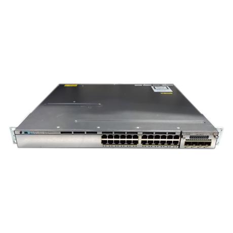 Cisco WS-C3750X-24T-S 24 Port 1U Managed Switch With 2 x 350W PSU + C3KX-NM-1G