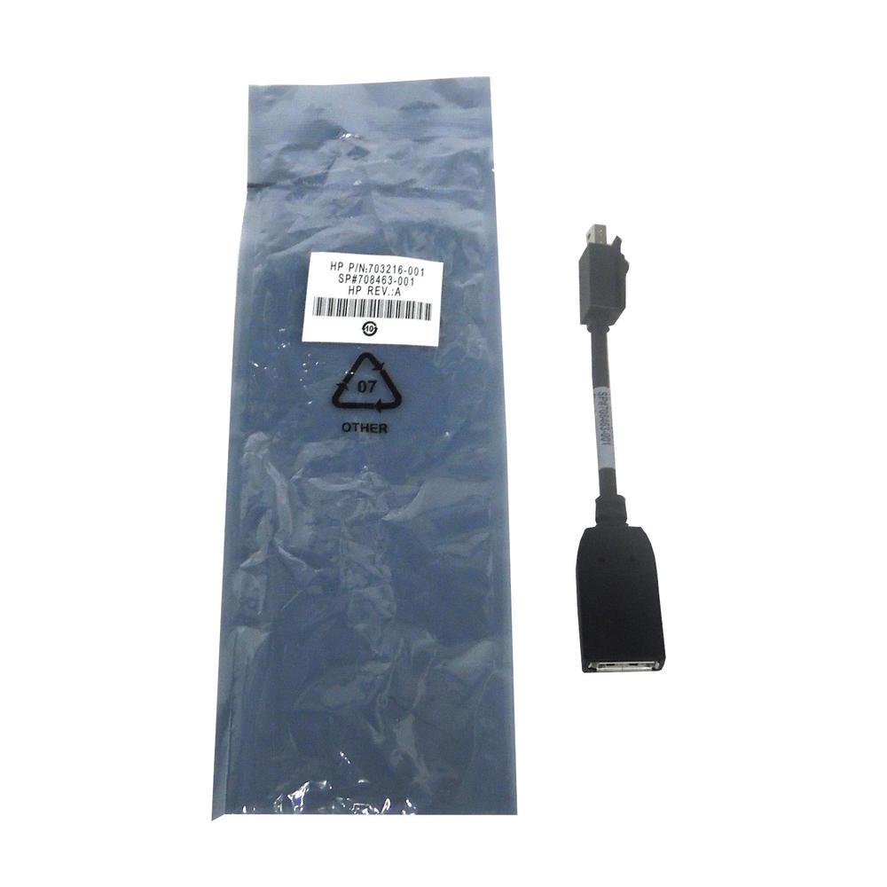 HP 703216-001 708463-001 Mini Display Port To Female Display Port