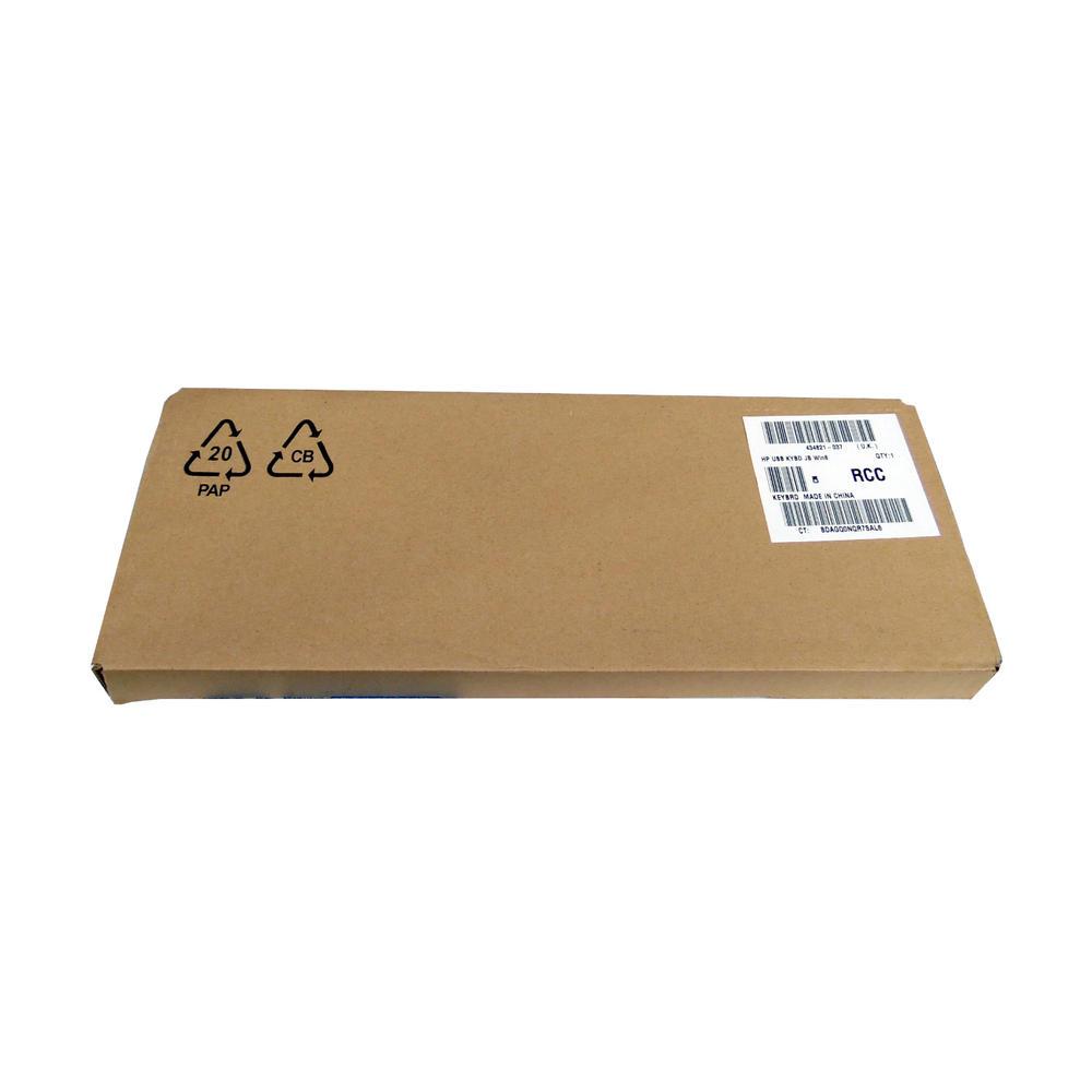 New HP Keyboard Black USB KYBD JB Win8 (UK) 434821-037