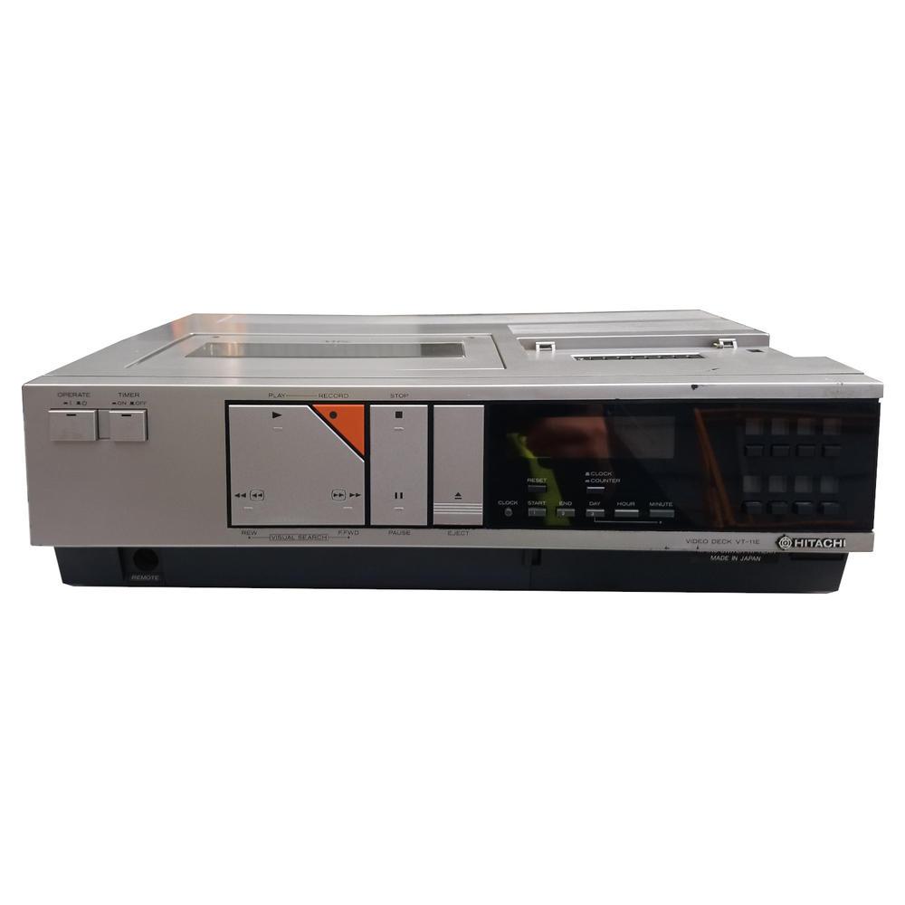 Vintage Hitachi VT-11E Top-Loading VHS VCR Retro Item Video Recorder Spares Or R