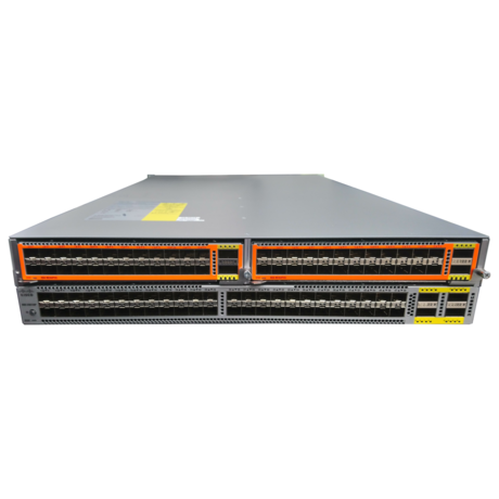 Cisco Nexus N5K-C56128P 2U Network Switch + 2 x N56-M24UP2Q Modules