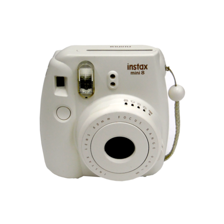 Fujifilm Instax Mini 8 Smoky White Instant Camera Grade B+
