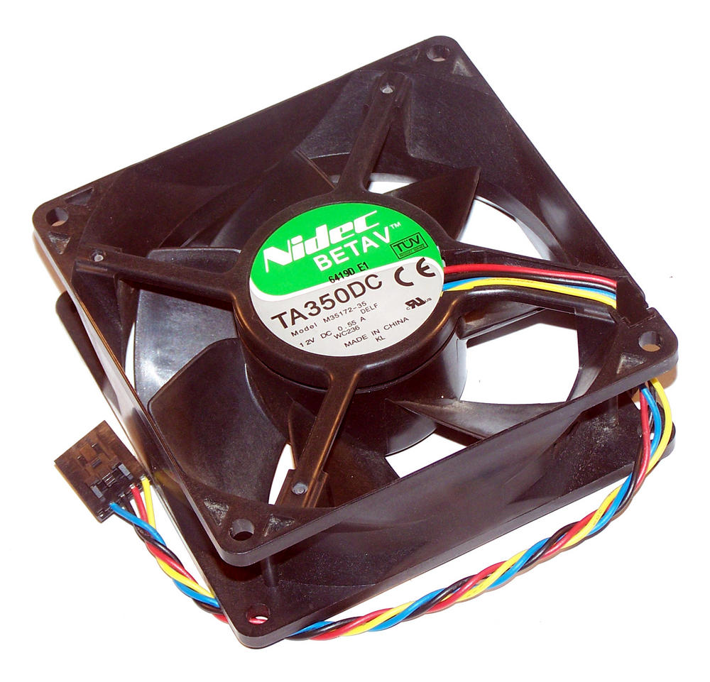Dell WC236 Dimension 3100C C521 OptiPlex 320 755 DCNE Fan 0WC236 | Nidec TA350DC Thumbnail 1