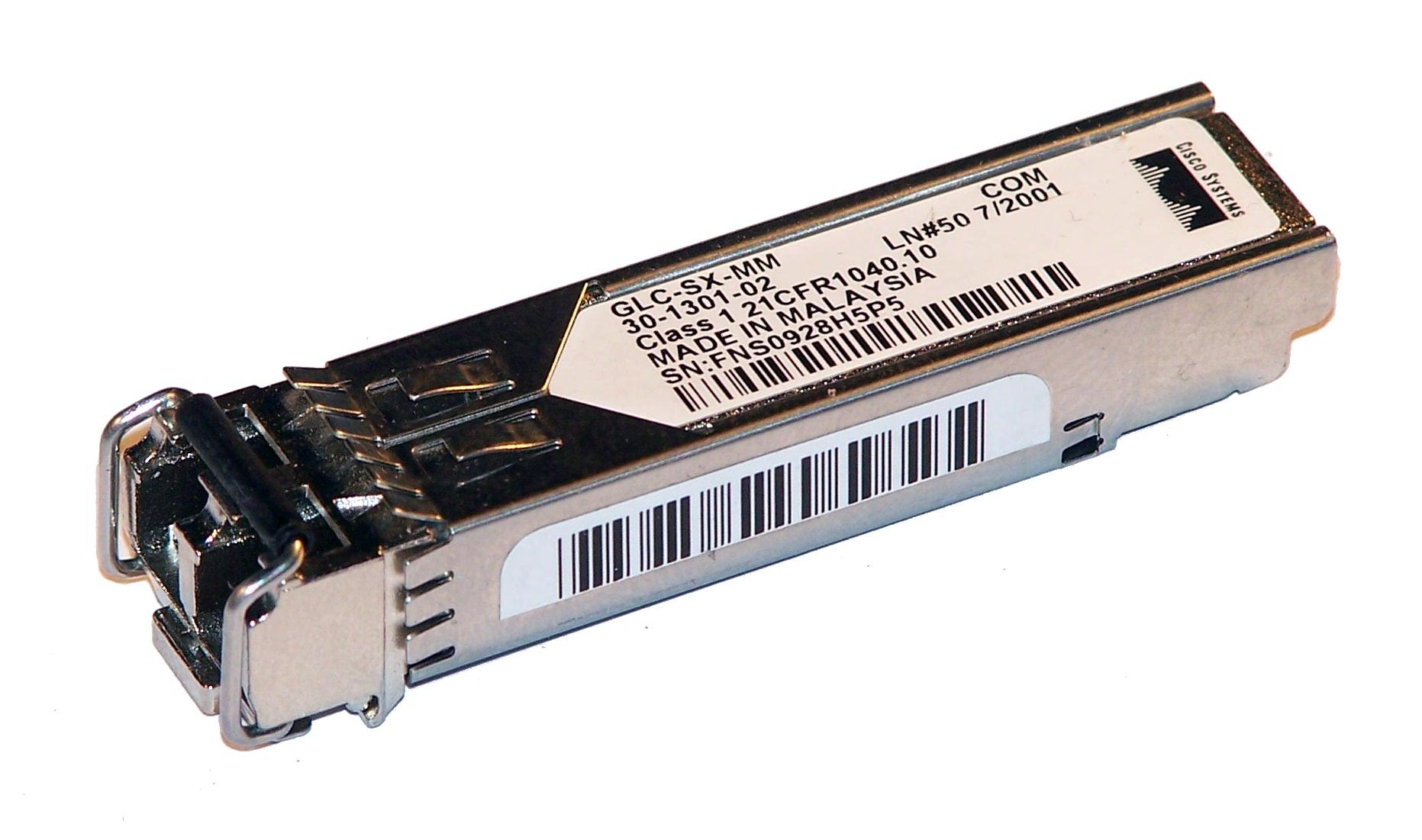 Cisco 30-1301-02 1000BASE-SX SFP 850nm GBIC GLC-SX-MM= Transceiver