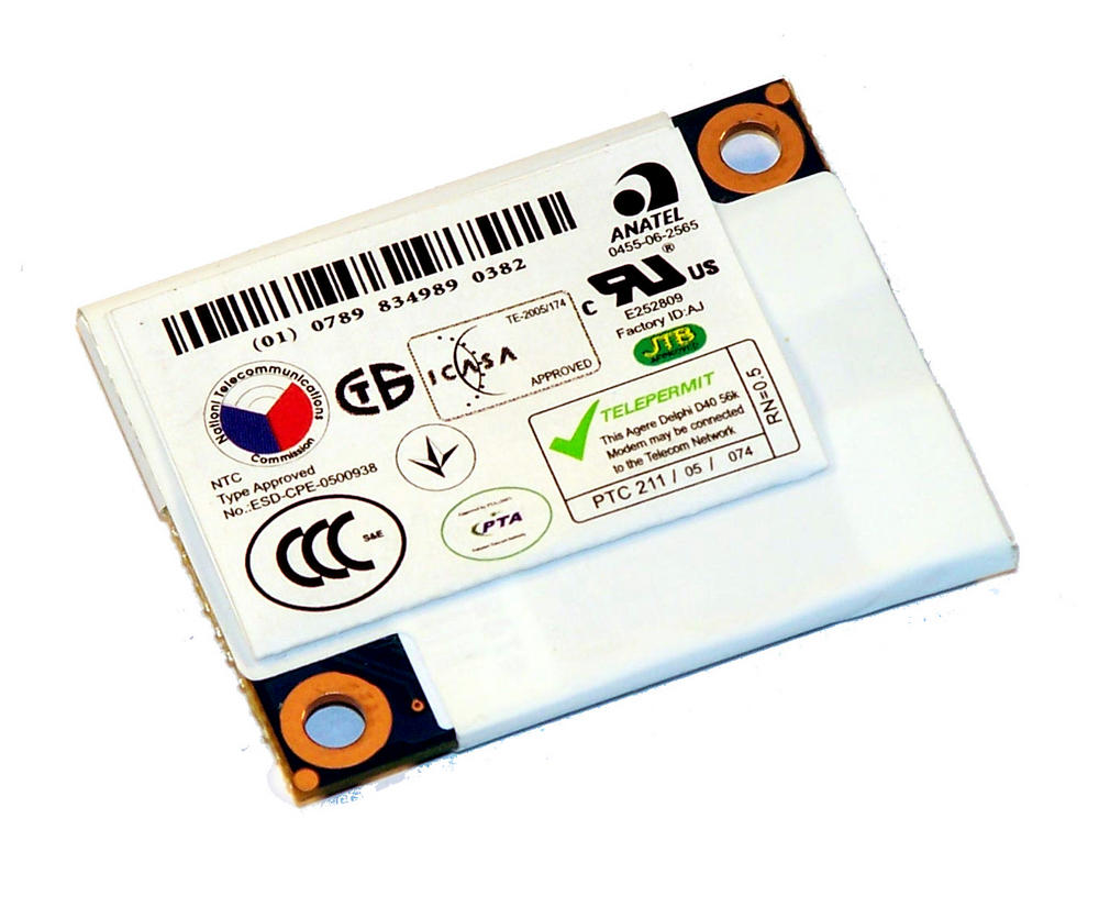 HP 455285-001 EliteBook 6930p Internal 56K Modem Card