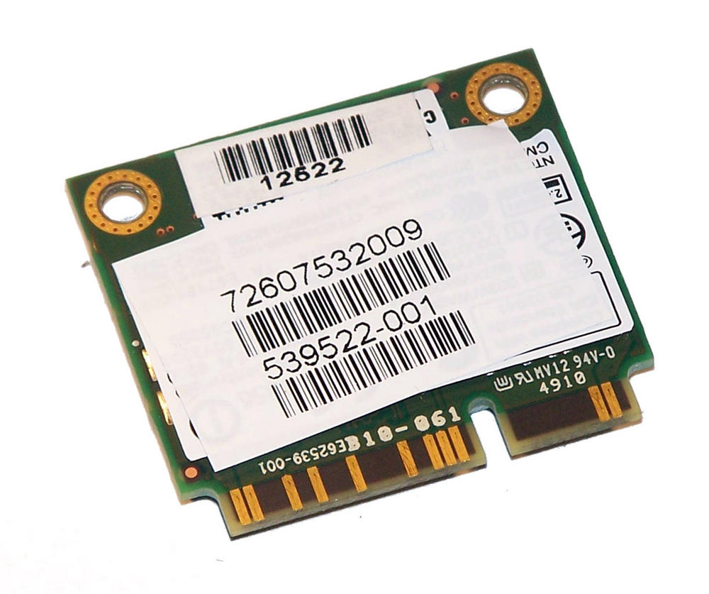 HP 539522-001 WLAN Mini PCIexpress Card WiFi 622ANHU 802.11a/g/n |SPS 572509-001 Thumbnail 1