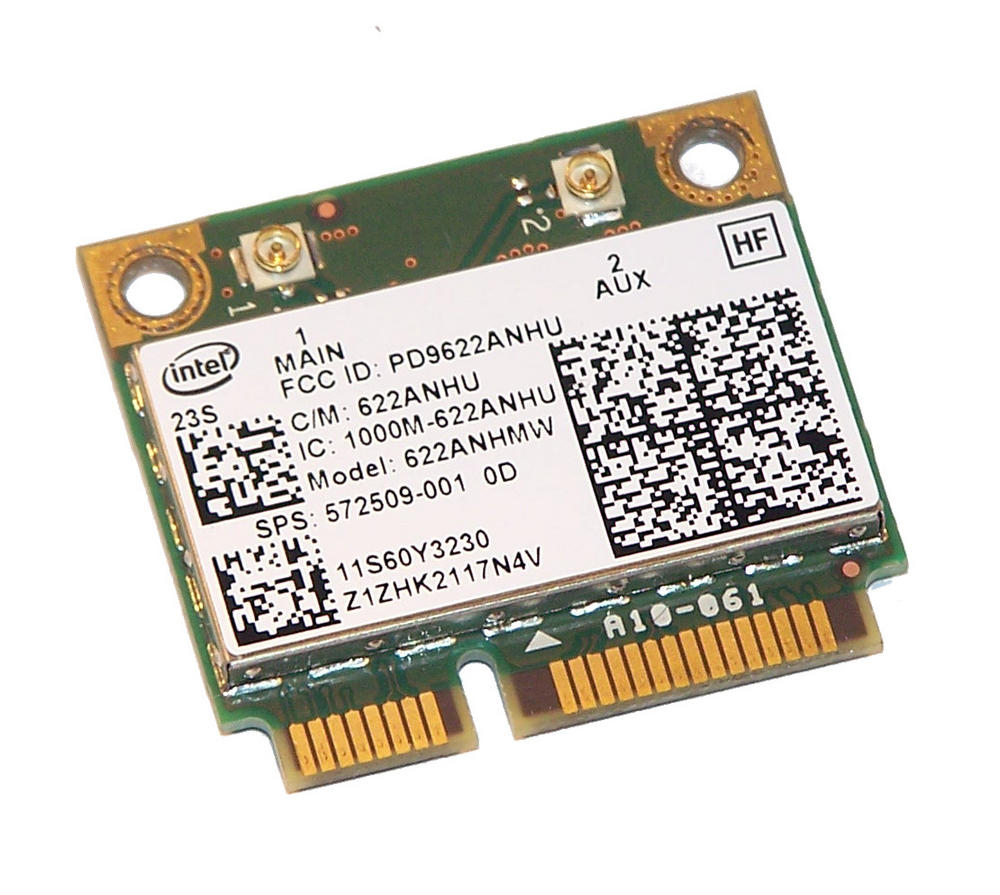 HP 539522-001 WLAN Mini PCIexpress Card WiFi 622ANHU 802.11a/g/n |SPS 572509-001 Thumbnail 2