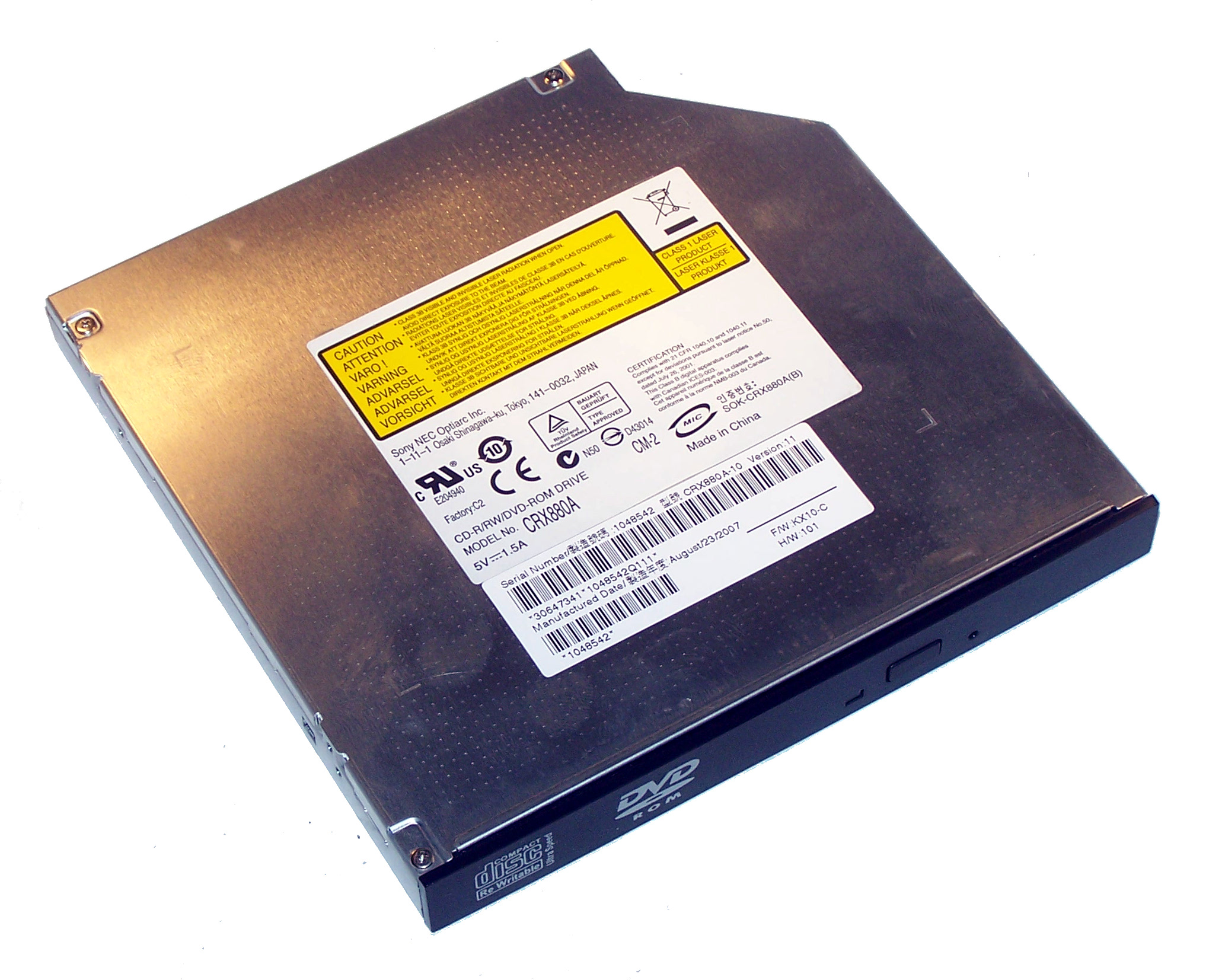 OPTIARC CD RW CRX880A TREIBER WINDOWS XP