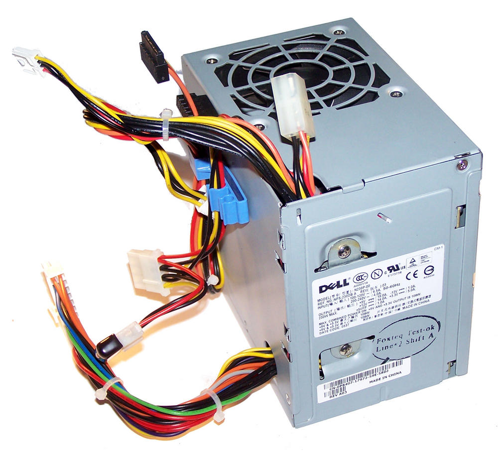 Dell P8407 OptiPlex GX520 GX620 model DCSM 230W Power Supply (Mini Tower) 0P8407