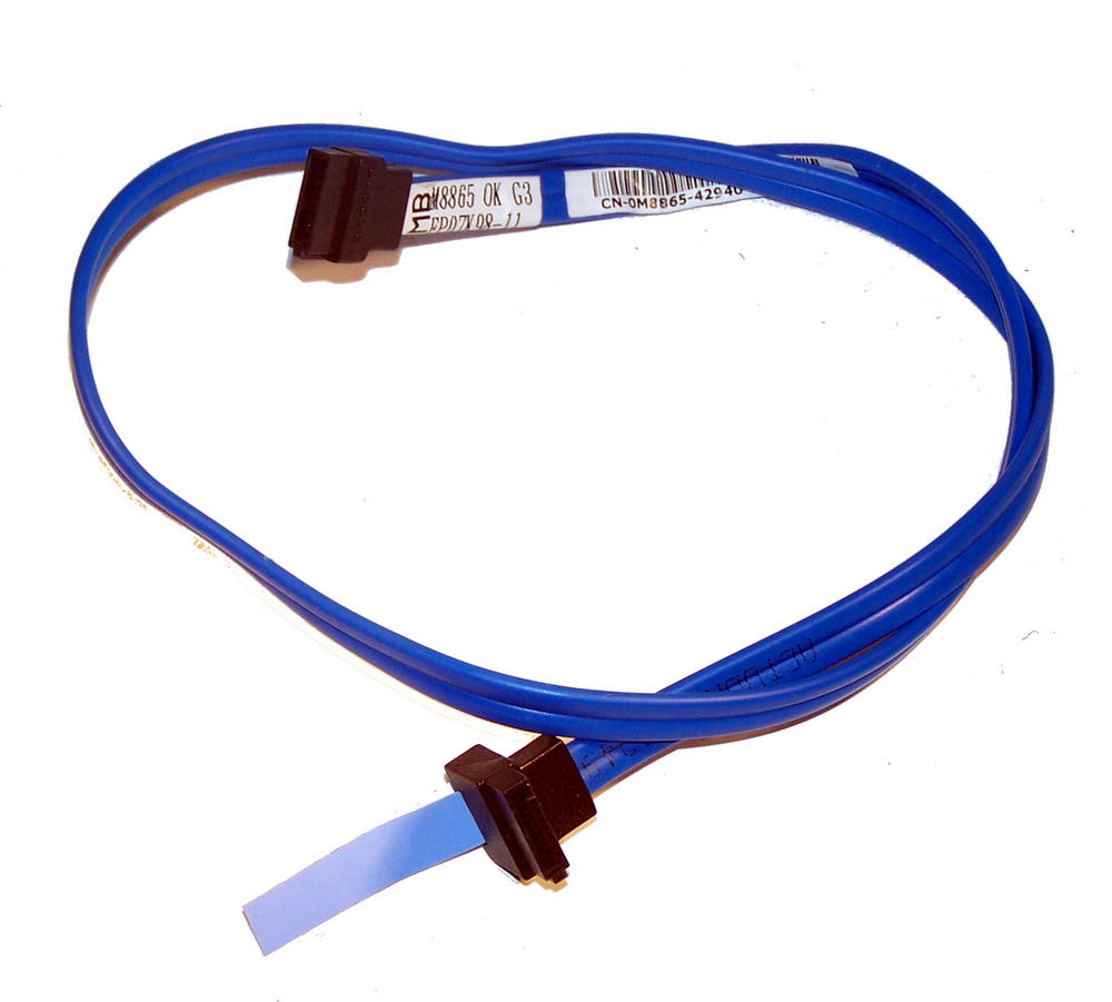 Dell M8865 OptiPlex 760 DCSM  Blue 56cm SATA Straight to Angled Cable | 0M8865