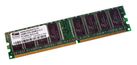 ProMOS V826632K24SATG-D3 (256MB DDR PC3200U 400MHz DIMM 184-pin) Memory Module