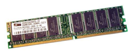ProMOS V826632K24SATG-C0 (256MB DDR PC2700U 333MHz DIMM 184-pin) Memory Module