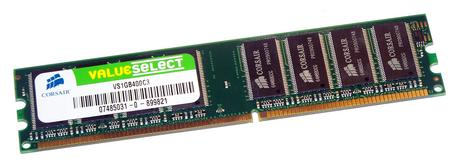 Corsair VS1GB400C3 (1GB DDR PC3200U 400MHz DIMM 184-pin ) Memory Module