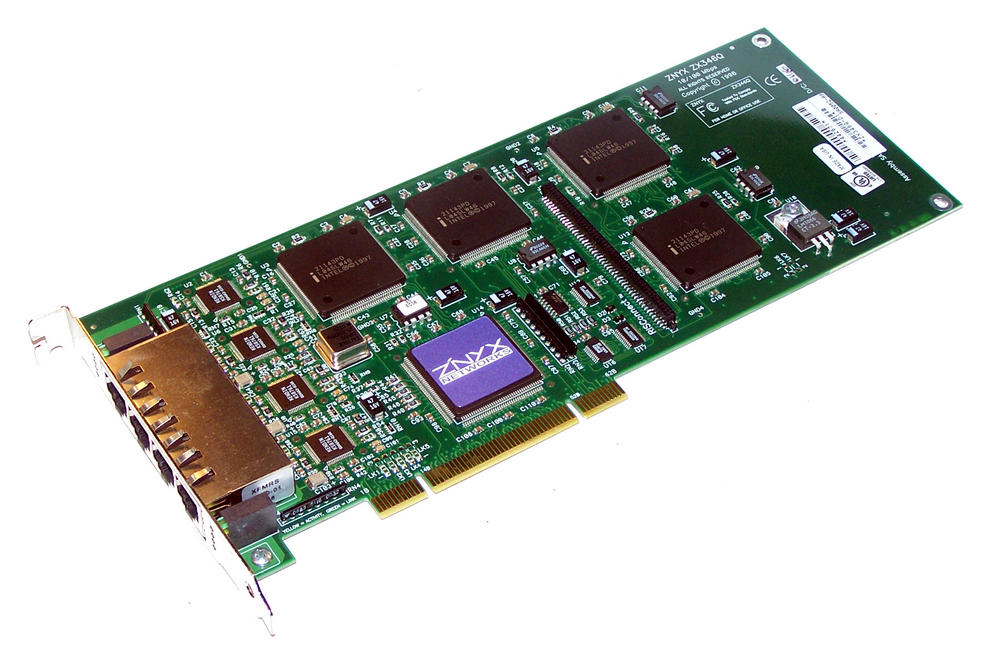 ZNYX ZX346Q PCI Quad port 10/100 Ethernet Card