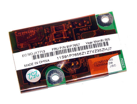 IBM 91P7656 ThinkPad R40 T41 56K Modem Card | FRU 91P7657 Thumbnail 2