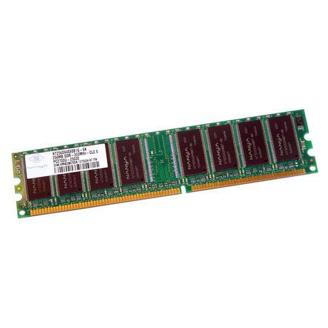 Nanya NT256D64S88B1G-6K (256MB DDR PC2700U 333MHz DIMM 184-pin) Memory