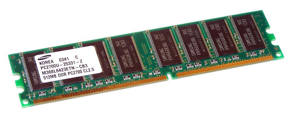 Samsung M368L6423ETN-CB3 (512MB DDR PC2700U 333MHz DIMM 184-pin) Memory Module Thumbnail 1
