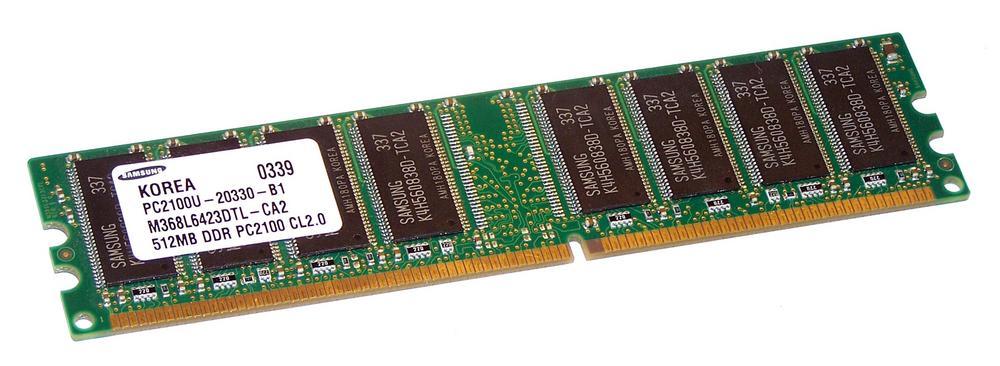 Samsung M368L6423DTL-CA2 (512MB DDR PC2100U 266MHz DIMM 184-pin) Memory Module