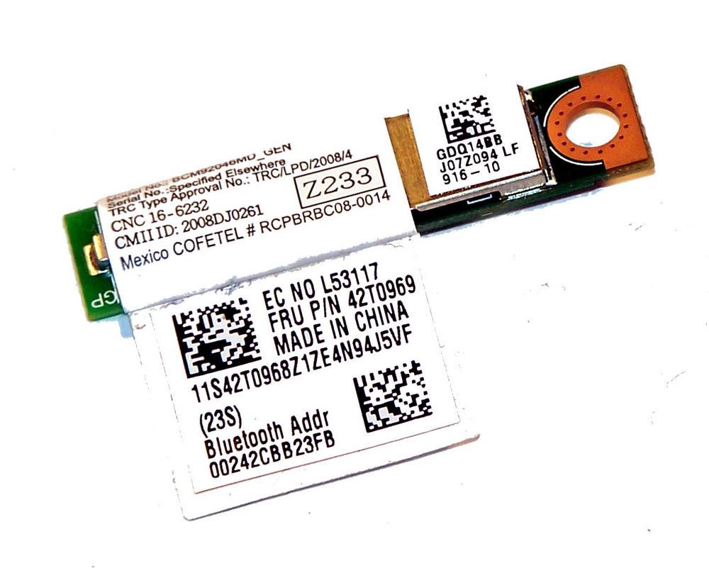Lenovo 42T0968 ThinkPad T400 T500 X200 Bluetooth Module | FRU 42T0969