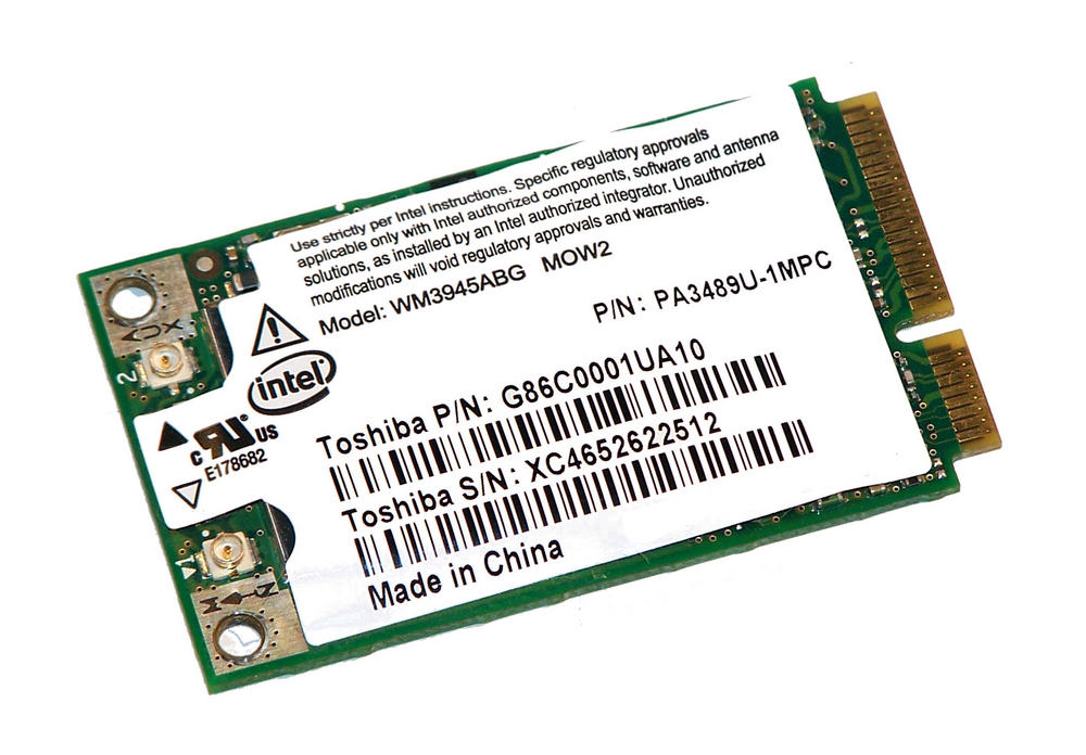 Toshiba G86C0001UA10 WLAN Mini PCIe Card Intel WM3945ABG WiFi 54Mbps 802.11a/b/g