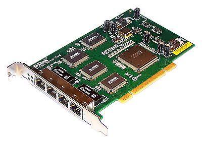 D-Link DFE-580TX Rev A4 PCI 32-Bit 4-Port 10/100 Ethernet Card ccna ccnp