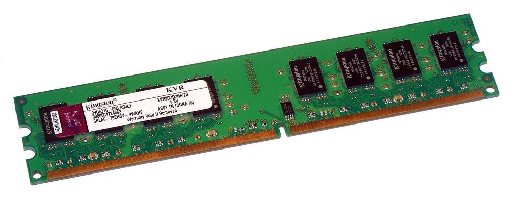 Kingston KVR800D2N6/2G (2GB DDR2 PC2-6400U 800MHz DIMM 240-pin) Memory Module