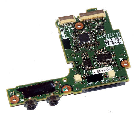 Fujitsu Siemens CP288865-X4 Lifebook T4210 Card Reader and Audio IO Board