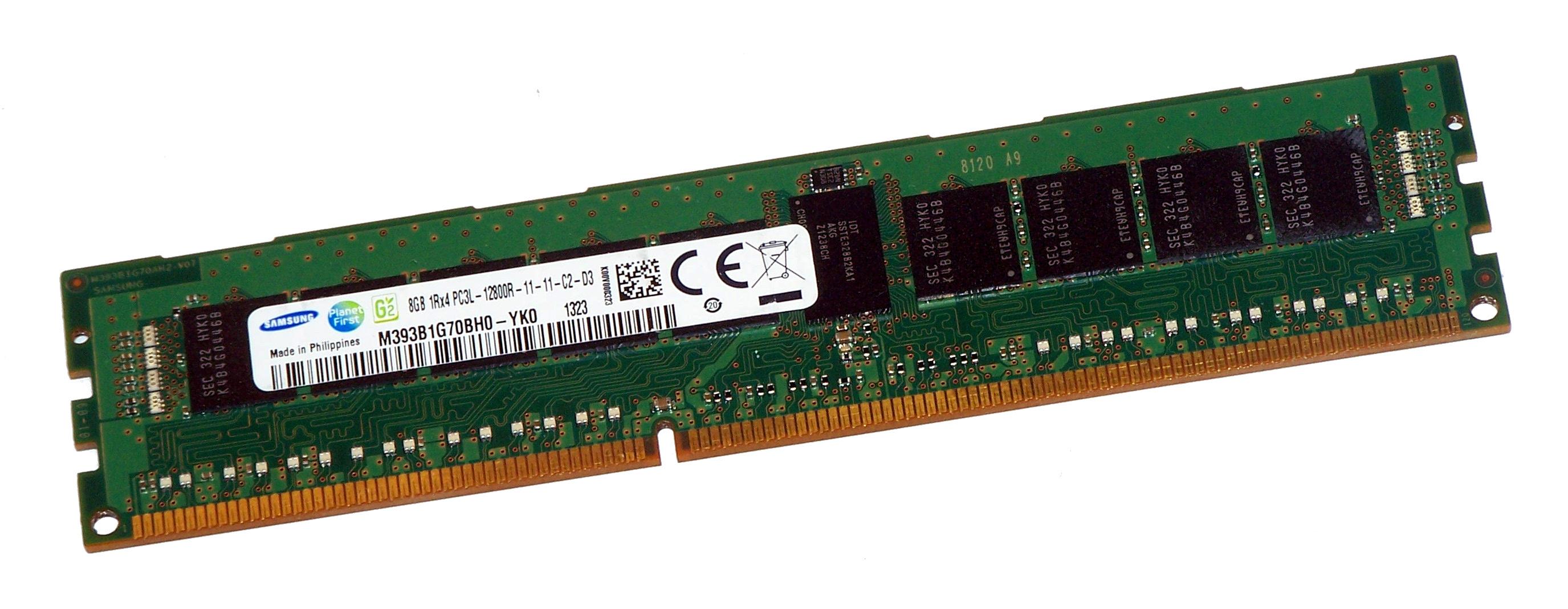 Samsung M393b1g70bh0 Yk0 8gb Ddr3 Pc3l 12800r Reg Server