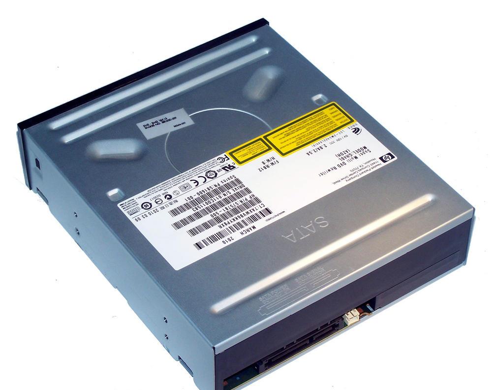 HP 575781-500 Black Bezel SATA H/H DVD DL Recorder Drive | GH40L SPS 581600-001 Thumbnail 2