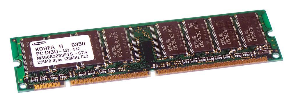 Samsung M366S3253ETS-C7A (256MB SD RAM PC133U 133MHz DIMM 168-pin) Memory