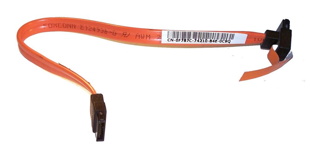 Dell F787C OptiPlex 755 DCNE Orange 21cm SATA Straight to Angled Cable | 0F787C