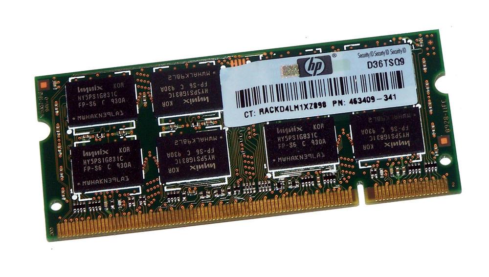 HP 463409-341 (2GB DDR2 PC2-6400 800MHz SODIMM 200pin) RAM HYMP125S64CP8-S6 AB-C