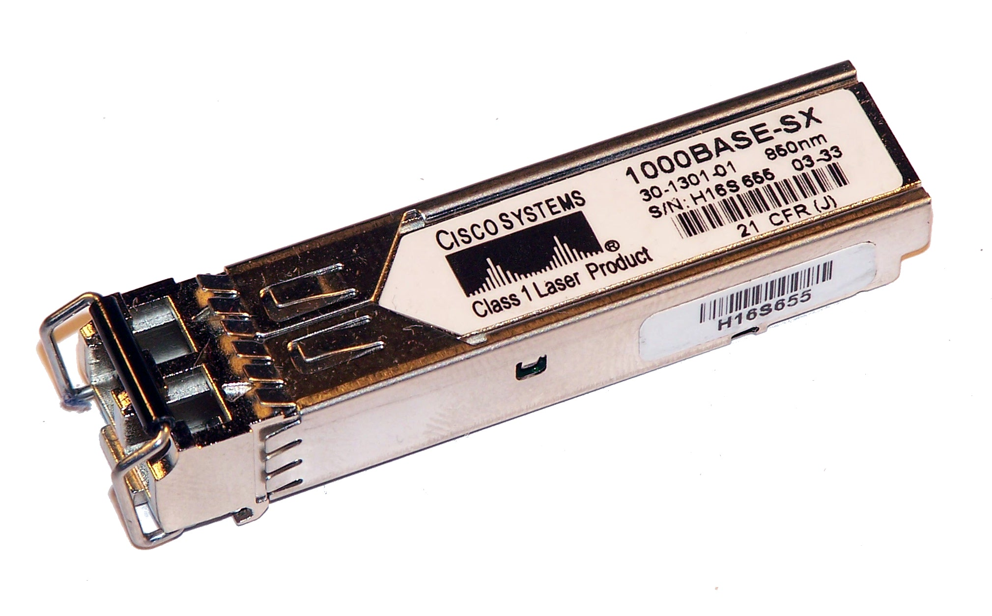 Cisco 30-1301-01 1000BASE-SX SFP 850nm GBIC GLC-SX-MM= Transceiver Thumbnail 1