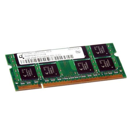 Qimonda HYS64T128021HDL-3S-B (1GB DDR2 PC2-5300S 667MHz SO DIMM 200-pin) Memory