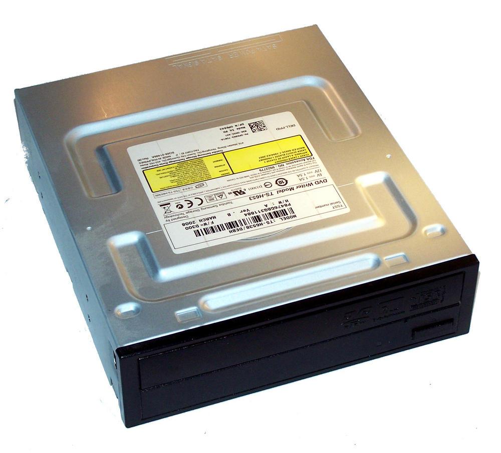 Dell PK643 SATA H/H DVD-RW Drive with Black Bezel | Model TS-H653B Thumbnail 1