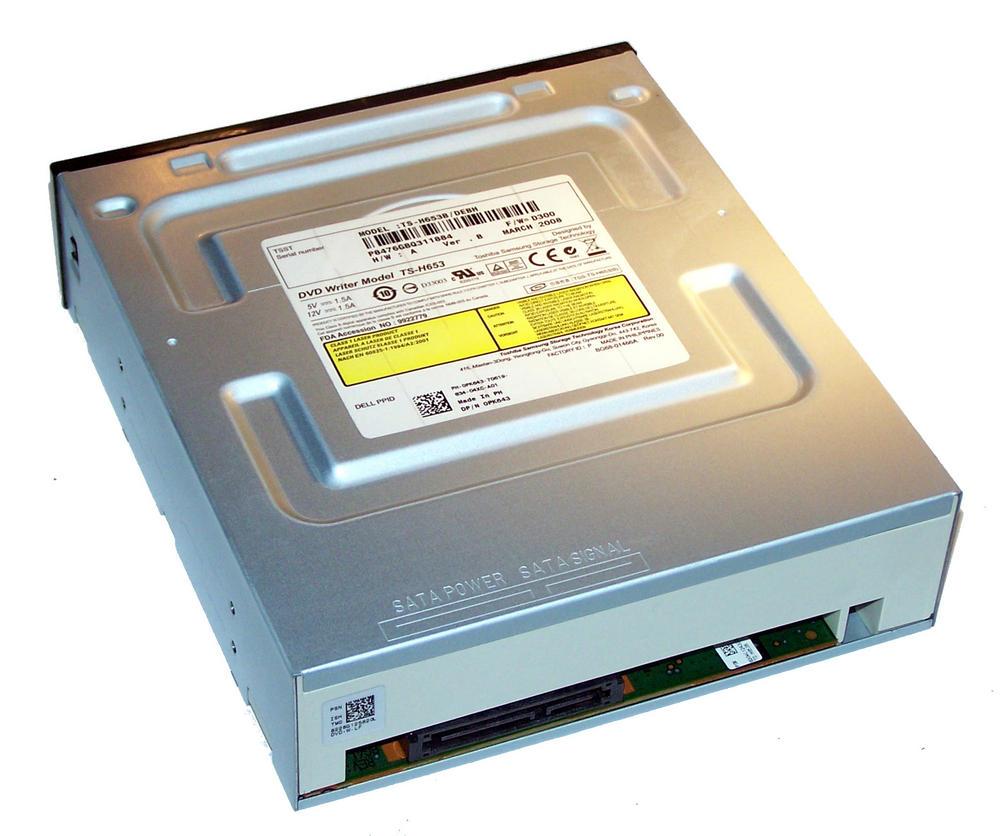 Dell PK643 SATA H/H DVD-RW Drive with Black Bezel | Model TS-H653B Thumbnail 2