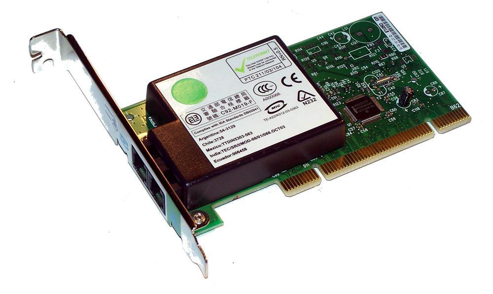 Dell Y2677 Dimension 3000 4600 5000 9100 PCI Intel 537EPG 56K Modem Card Thumbnail 2