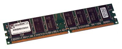 Kingston KVR333X64C25/512 (512MB DDR PC2700U 333MHz DIMM 184-pin) 16C Memory