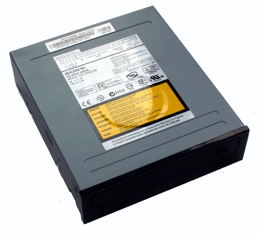Dell M5587 ATA H/H CD-RW Drive with Black Bezel - Model CRX216E 0M5587