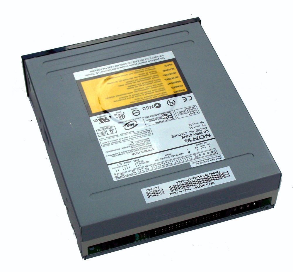Dell M5587 ATA H/H CD-RW Drive with Black Bezel - Model CRX216E 0M5587 Thumbnail 2
