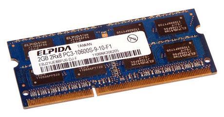 Elpida EBJ21UE8BFU0-DJ-F (2GB DDR3 PC3-10600S 1333MHz SO DIMM 204-pin) Memory