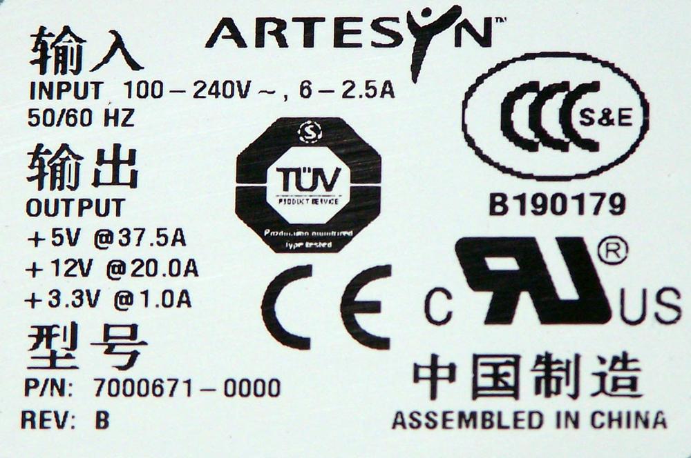 Adaptec PWR-00002-01-A SC4100 JBOD Redundant AC Power Supply Thumbnail 2