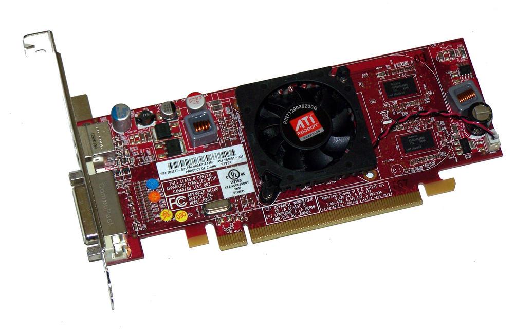 HP 584081-001 Radeon HD4550 512MB PCIe Graphics Card, Std Bracket SPS 584217-001 Thumbnail 1
