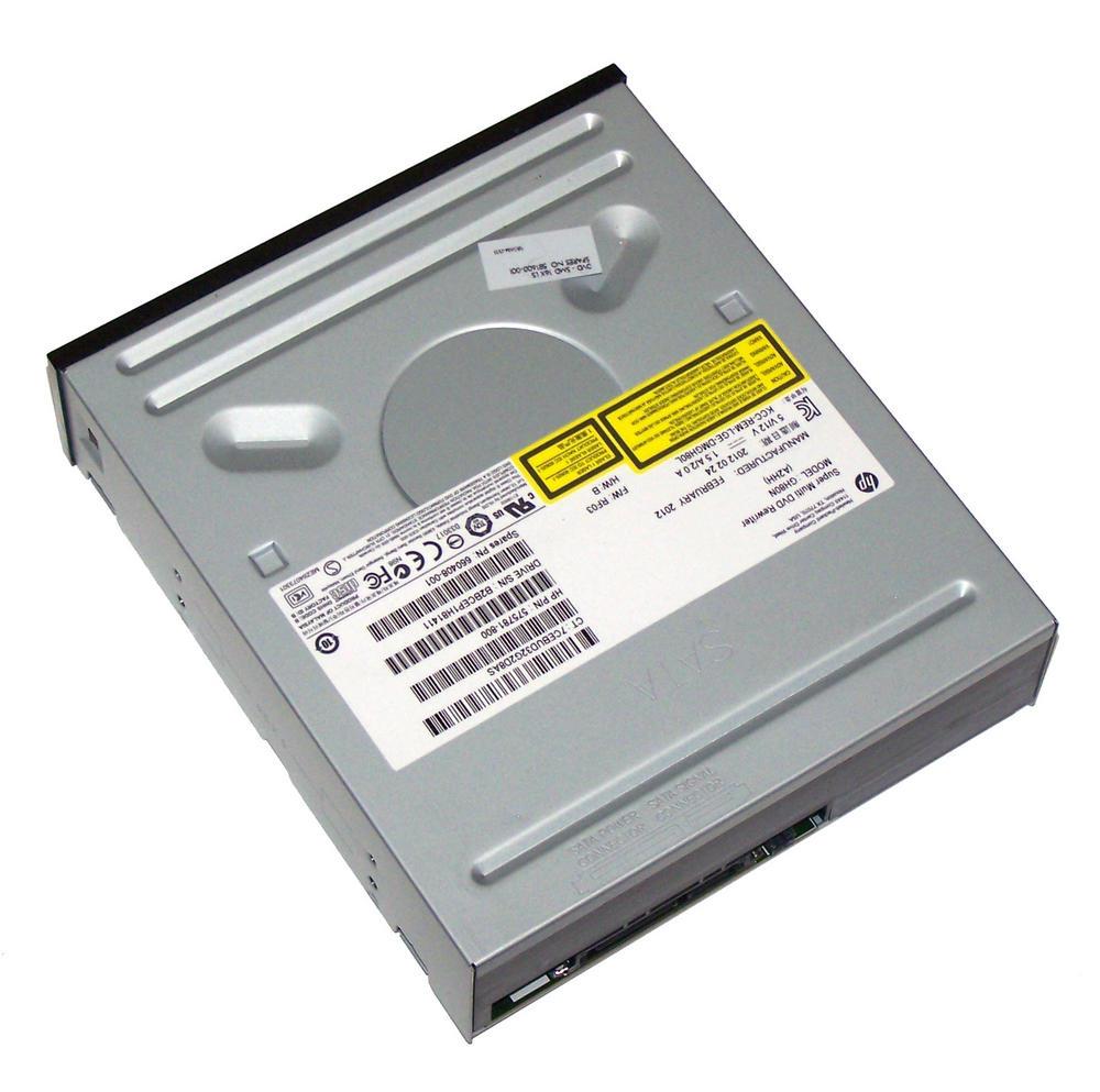 HP 575781-800 Black Bezel SATA H/H DVD DL Recorder Drive | GH80N SPS 660408-001 Thumbnail 2